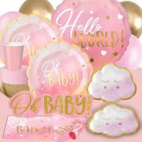 *Oh Baby Shower Pink Metallic