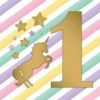 Unicorn Metallic 1st Bday Party Supplies