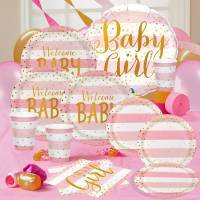 Pink & Gold Metallic Baby Shower