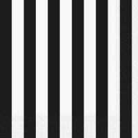 Black and White Striped Party Supplies