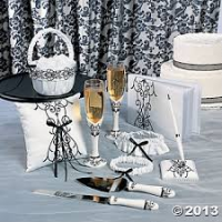 Black and White Wedding Supplies