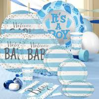 Blue & Silver Metallic Baby Shower