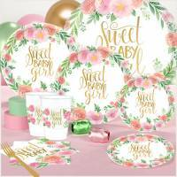 *Floral Baby Shower Party Supplies