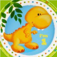 *Dinosaur 1st Birthday Party Supplies