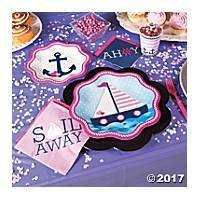 Nautical Girl 1st Birthday Party Supplies