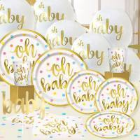 *Gold Metallic Oh Baby Baby Shower