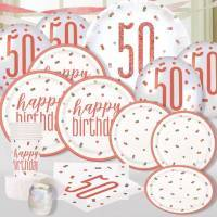 *Rose Gold & Pink Age 50 Party Supplies